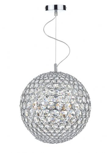 Fiesta 5 Light 35CM Pendant Polished Chrome (Class 2 Double Insulated) BXFIE0550-17
